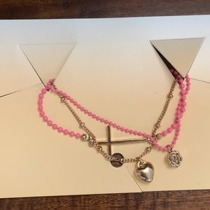 NWT Urban Outfitters Pink & Gold Bracelet